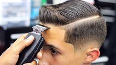 HAIRCUT TUTORIAL | COMBOVER | DROP FADE | BLOW DRIED AND STYLE - YouTube