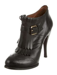 McQ by Alexander McQueen Fringe Embellished Booties