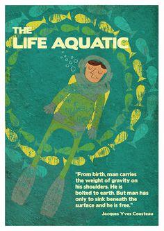 Life Aquatic by Hana Zámečníčková My boyfriend showed me this movie and I fell in love.... With him and the movie :3