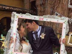 Recién Casados en su  estudio fotográfico