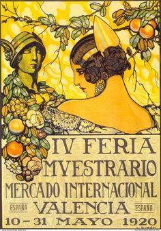 cartel feria de valencia 1920 - Buscar con Google