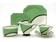 Royal Doulton Art deco tea set, decorated with the 'De - Miller's Antiques & Collectibles Price Guide