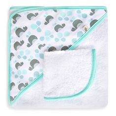 product image for JJ Cole® Hooded Towel in Aqua Whale