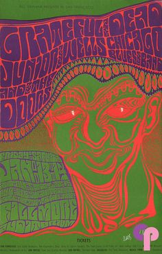 Classic Poster - Junior Wells Chicago Blues Band at Fillmore Auditorium 1/13-15/67 by Wes Wilson