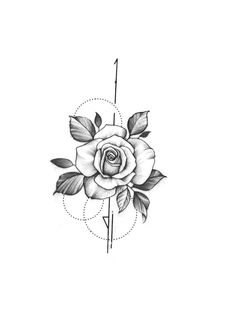 - Roses -Roses - Roses - Roses in geometry Temporary Tattoo / Dots lines flash tattoo / Drawing flower Rosebud / Female Thigh Diseño The 90 Best Back Tattoos [Femininas e Masculinas] Mini Tattoos, Armbeugen Tattoos, Flower Tattoos, Tattoo Drawings, Body Art Tattoos, Small Tattoos, Sleeve Tattoos, Foot Tattoos, Tatoos