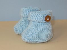 Easy Baby Roll Top 1 Button Booties