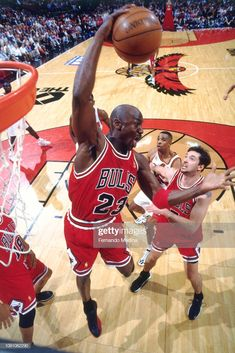 Michael Jordan of the Chicago Bulls shoots the ball against the Atlanta Hawks on May 1997 during Game Two of the NBA Eastern Conference Semifinals at the Omni Coliseum in Atlanta, Georgia. Get premium, high resolution news photos at Getty Images Chicago Bulls, Michael Jordan, Thunder Nba, Oklahoma City Thunder, Jordan Logo, Jordan 23, Charlotte Hornets, Basketball Art, Basketball Players