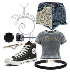 """Daughter of Hypnos"" by elli-jane-xox ❤ liked on Polyvore featuring Tressa, Boohoo, Converse, BERRICLE and Diamonds Unleashed"