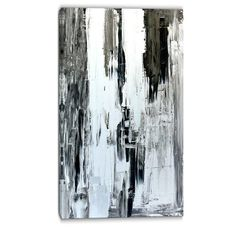 "DesignArt Painting Abstract Graphic Art on Wrapped Canvas Size: 32"" H x 16"" W"