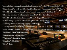 Brooklyn Bowl = Food by Blue Ribbon + 16 lane bowling alley + 600 capacity live music venue :: located in Brooklyn, NY. // Find us on Twitter & Instagram @brooklynbowl - FB: http://bkbwl.com/gVLVzS // #BrooklynBowl - #BowlingAlley - #LiveMusicVenue - #BlueRibbonFood - #LiveMusic - #BrooklynBowlEvents - #BrooklynNightlife - #NYC - #Entertainment - #NewMusic -  #Concerts