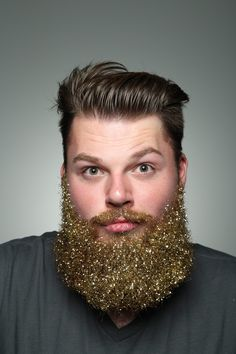 Getting festive with a glitter beard! Show me your #beards #glitter #festivefacialhair