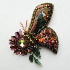 Embroidered butterfly - wonderful color combination