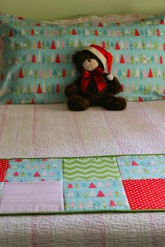 13th Day of Christmas: Patchwork Bed Scarf