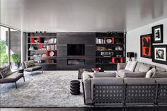 FLEXFORM CESTONE sofa and HAPPY armchairs. Braga House 1 - Casa do Passadiço #LivingRoom #Interior #Home