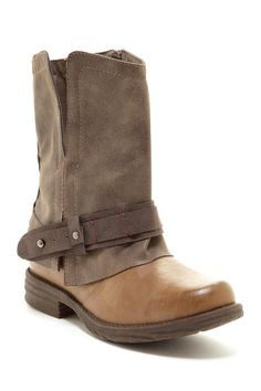 Olive Motorcycle Boot by Rebels on @HauteLook