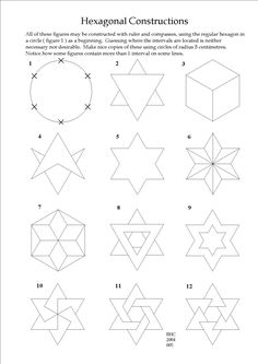 A drawing exercise for beginners in geometry.