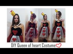 🎭DIY- Disfraz reina de corazones fácil y original- Queen of heart costum...