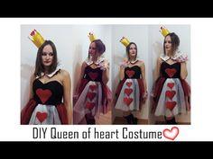 ✂DIY- Disfraz reina de corazones fácil y original- Queen of heart costume | Nerea Iglesias - YouTube