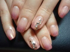 Love the blush-shimmer ombre - would do it without the rhinestones, though...
