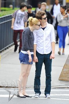 Gwen Stacy and the new spider man.