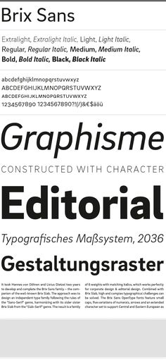 Brix Sans - HvD Fonts