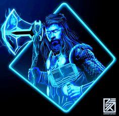 Thor, Avengers: End Game Marvel Comic Universe, Marvel Art, Marvel Cinematic Universe, Marvel Avengers, Logo Super Heros, Marvel Animation, Marvel Drawings, Avengers Wallpaper, Comic Pictures