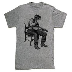 Racoon Banjo Tee Men's Gray now featured on Fab.