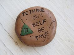 Sobriety Chip Medallion Polymer Clay Alcoholics Anonymous Recovery by Ferd & Bird Jewelry