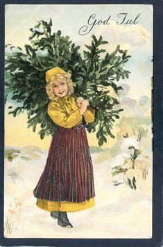 Flicka bär hem julgranen Vackert julkort skicka.. (329297887) ᐈ Köp på Tradera Hem, Christmas Cards, Painting, Christmas E Cards, Painting Art, Paintings, Painted Canvas, Drawings, Christmas Card Sayings