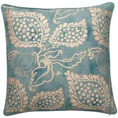 Grenadine Cushion Cover, Large - Turquoise/Gold