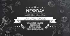New Day is a responsive OnePage Landing HTML Template, developed for cafes…