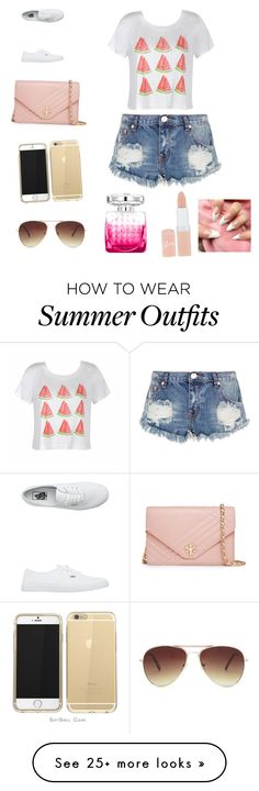 """""""Perfect summer outfit!"""" by lemonadenyc on Polyvore featuring Ally Fashion, One Teaspoon, Vans, Tory Burch, Forever 21, Jimmy Choo and Rimmel"""