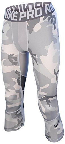 Nike Pro Combat Hypercool Compression Woodland 34 Training Tights XLarge Cool GreyWhite Woodland Camo -- Want additional info? Click on the image.
