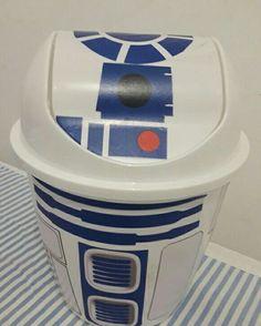 Lixeira star wars diy geek decoração