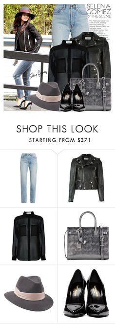 """Selena Gomez"" by jan31 ❤ liked on Polyvore featuring Disney, Yves Saint Laurent and Penmayne of London"