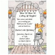 Kids Birthday castle invitations