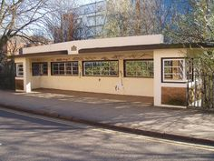 One of five Art Deco tram shelters built in Leicester in This overlooks the River Soar near to the Newarke. Art Deco Buildings, Light Rail, Leicester, Pavilion, Shelter, Westerns, Concrete, Mansions, House Styles