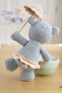 Amigurumi Crochet patrón Hanna el hipopótamo por littlemuggles