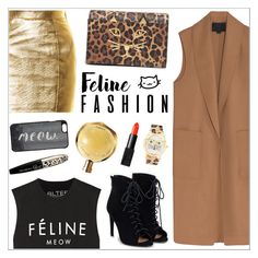 """""""Meow"""" by nastenkakot ❤ liked on Polyvore featuring Yves Saint Laurent, Alexander Wang, Brian Lichtenberg, L'Oréal Paris, JustFab, Kate Spade, Charlotte Olympia, Frankie & Stein, Hermès and NARS Cosmetics"""