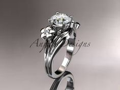 Platinum Diamond Leaf And Vine