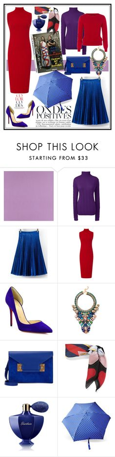 """""""COLOUR CODES!!!"""" by kskafida ❤ liked on Polyvore featuring Casadeco, Lands' End, Emily and Fin, Getting Back To Square One, Christian Louboutin, Sophie Hulme, Gucci, Guerlain, Anja and Moschino"""