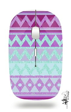 Slim Wireless Mouse Tribal Chevron in pink and mint glitter white - Bags & Accessories Small Home Offices, Office Furniture Design, Tecno, Cool Rooms, White Bags, Sparkles Glitter, Bag Accessories, Hippie Chic, Chevron