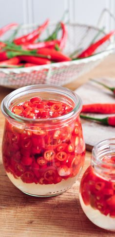 Pickled Chillies | eatlittlebird.com