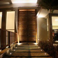 Show de luz na fachada.