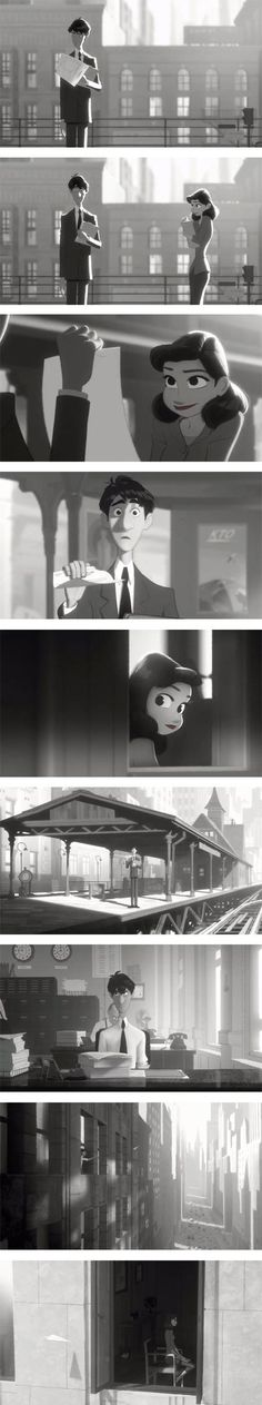 Probably the best animated short I've seen. Super adorable. putting these pics in different frames. In the last one, i'll put a red accent.