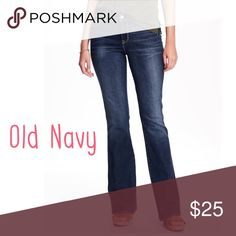NWT Old Navy Dark Wash Flare Jeans - Size 16! Brand new with tags. Some areas have distressing as show, but they were manufacture made. Smoke and pet free home. No trades. Item location: bin 2. Old Navy Jeans Flare & Wide Leg