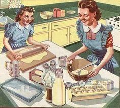 🌟Tante S!fr@ loves this📌🌟baking……réepinglé par Maurie Daboux ⊰✿ Vintage Baking, Vintage Kitchen, Retro Advertising, Vintage Advertisements, Vintage Pictures, Vintage Images, Vintage Love, Retro Vintage, Vintage Style