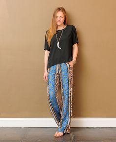 Ella Moss Jodi Mix Print Pants