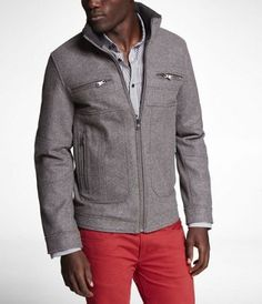 $198.00 WOOL BLEND BOMBER JACKET at Express