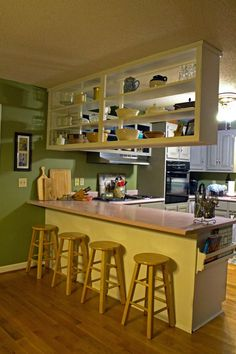 12 Easy Ways to Upgrade Basic Kitchen Cabinets Want to give your outdated or builder-grade kitchen cabinets a fresh new look? Try these easy, low- Kitchen Cabinets Upgrade, Kitchen Cabinets Pictures, Kitchen On A Budget, Kitchen Cabinetry, Kitchen Room Design, Home Decor Kitchen, Kitchen Interior, Home Kitchens, Kitchen Ideas